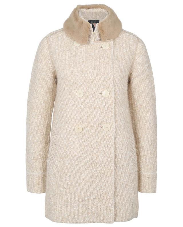 Manteau en mailles avec col fausse fourrure MARC CAIN