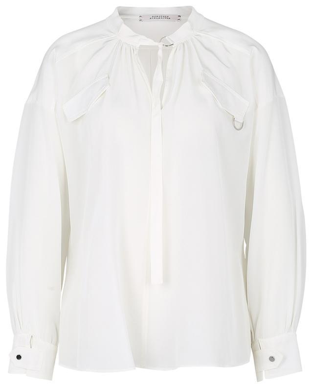 Fluid Volumes oversized utilitarian blouse in silk DOROTHEE SCHUMACHER