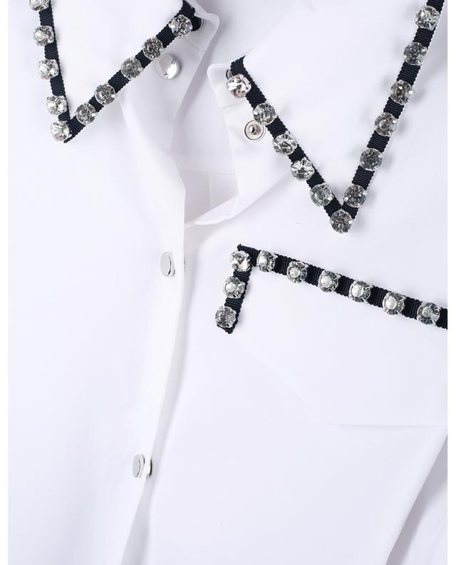 Chemise courte décontractée avec cristaux Poplin Power DOROTHEE SCHUMACHER