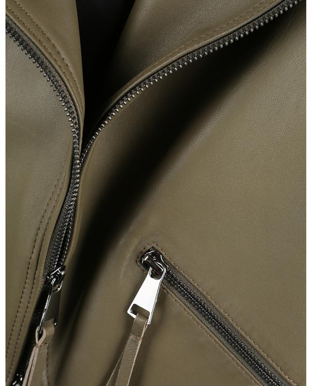 Gilet zippé en cuir nappa Cool Edge DOROTHEE SCHUMACHER