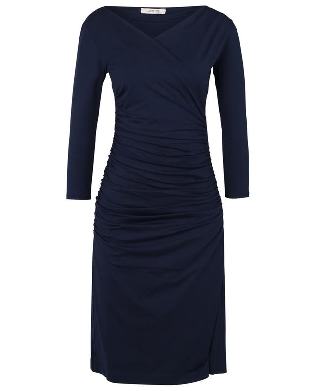 Fascinating Drapes ruched short jersey dress DOROTHEE SCHUMACHER