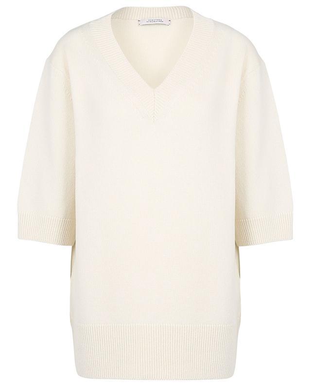 Weiter V-Kragen-Pullover mit Dreiviertelärmeln Timeless Ease DOROTHEE SCHUMACHER