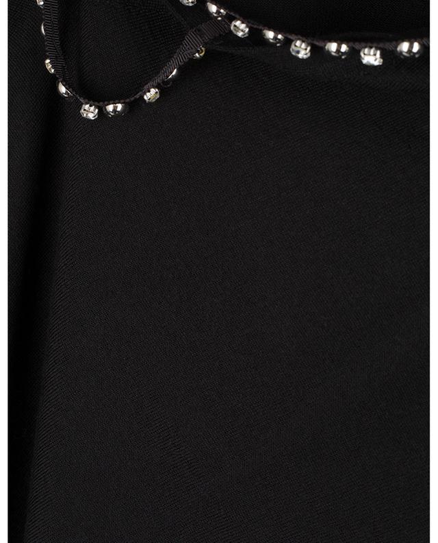 Rückenfreier Feinstrickpullover mit Kristallen und Nieten Sophisticated Softness DOROTHEE SCHUMACHER