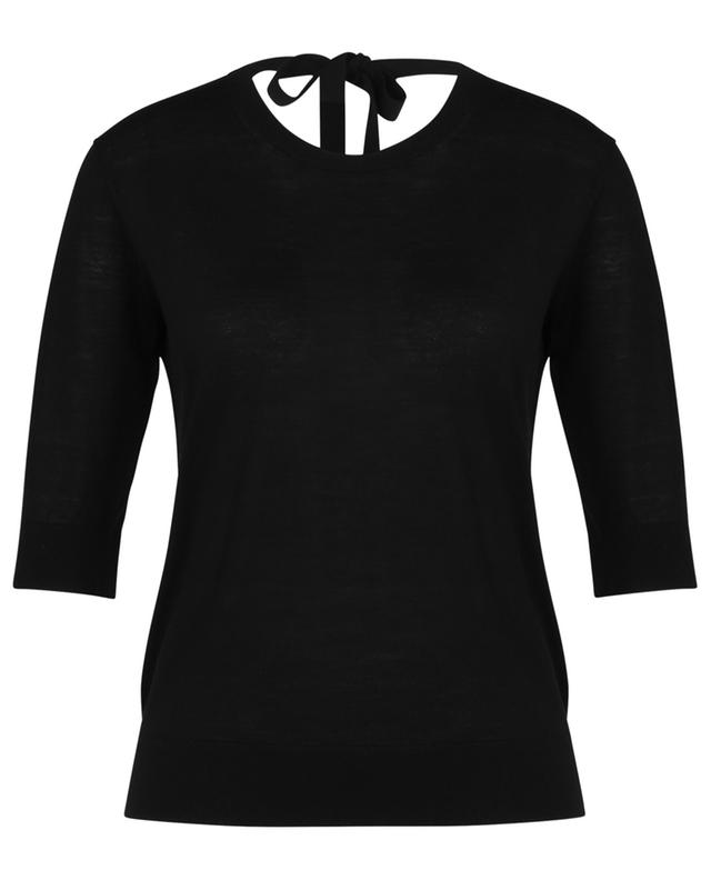 Sophisticated Softness thin jumper with V-neck in the back DOROTHEE SCHUMACHER