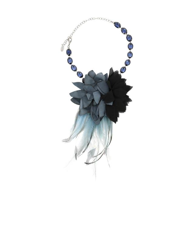 Necklace with feathers and strass TWINSET