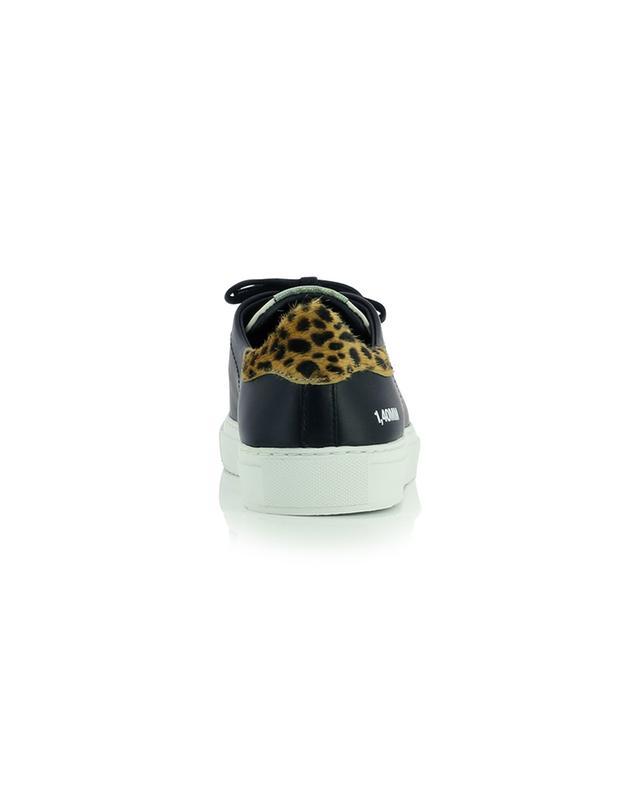 Baskets en cuir avec talons imprimés léopard Clean 90 Triple AXEL ARIGATO