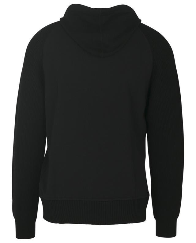 Sweat-shirt à capuche bi-matière PAOLO PECORA