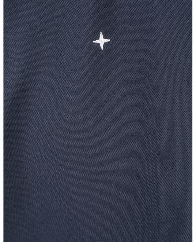 Polo manches courtes en coton brodé rose des vents stylisée STONE ISLAND