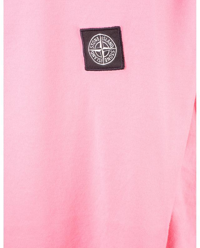 T-shirt manches courtes en coton patch poitrine rose des vents STONE ISLAND