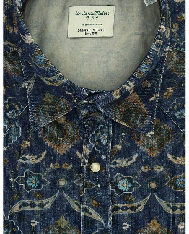 Printed velvet shirt TINTORIA MATTEI