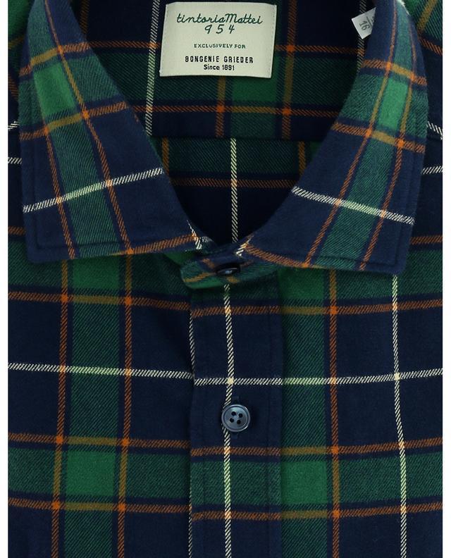 Chemise à carreaux en flanelle TINTORIA MATTEI