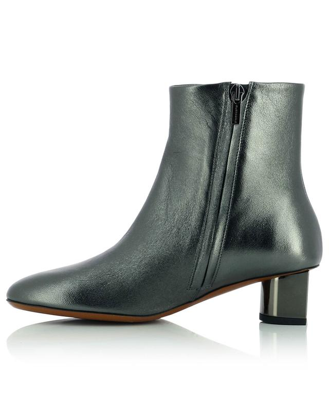 Paige4 heeled metallic leather ankle boots CLERGERIE
