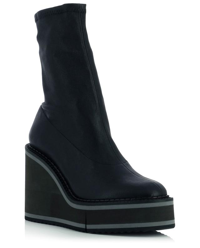 Bliss4 stretch lambskin wedge ankle boots CLERGERIE