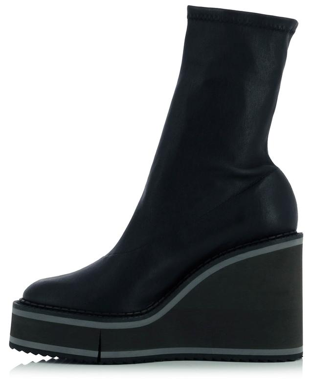 Bottines compensées en cuir d'agneau stretch Bliss4 CLERGERIE