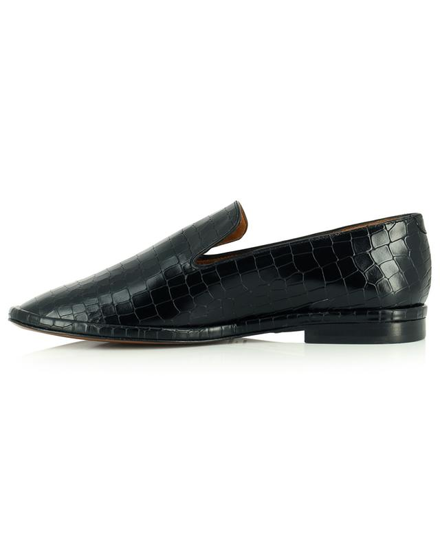 Olympia croc effect leather square toe loafers CLERGERIE