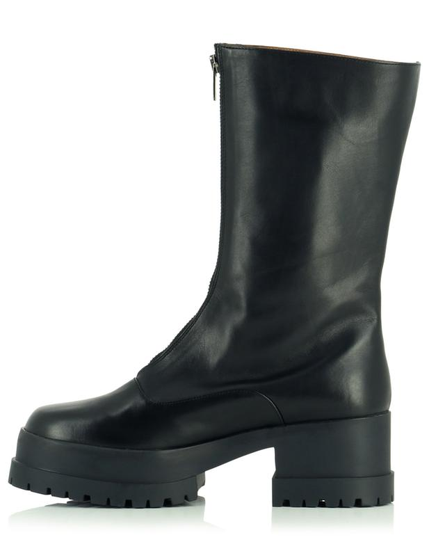 Wallie zippered leather booties CLERGERIE