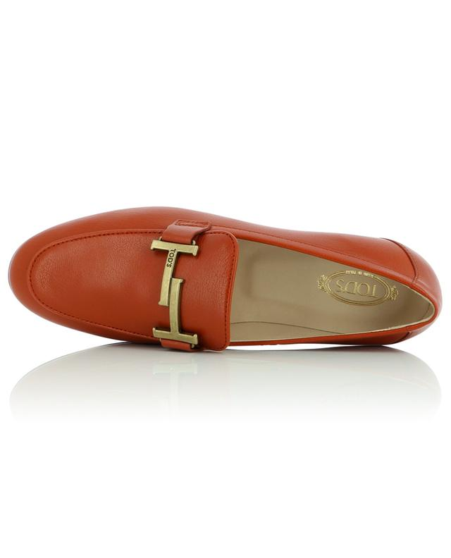 Doppia T grained leather loafers TOD'S