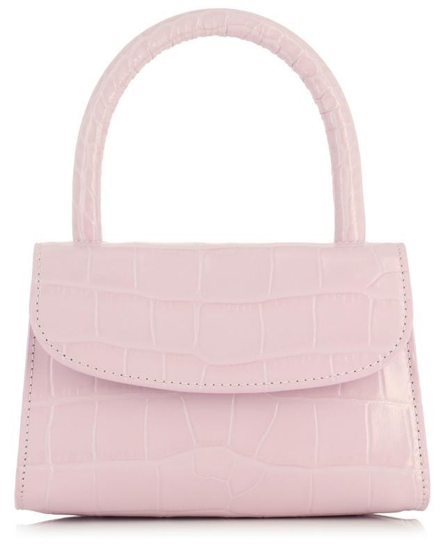 Sac cabas en cuir effet crocodile Mini Pink BY FAR