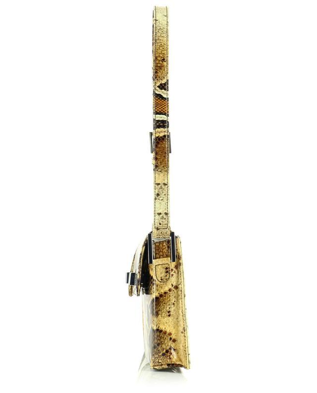 Sac porté épaule en cuir verni imprimé Billy Snake Print BY FAR