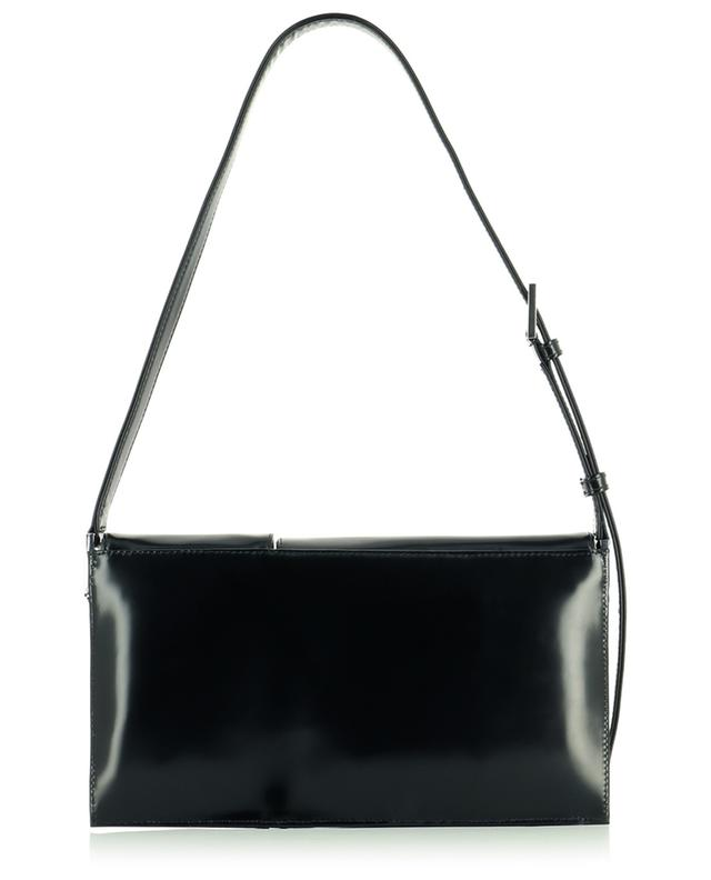 Sac porté épaule en cuir brillant Billy Black Semi Patent BY FAR