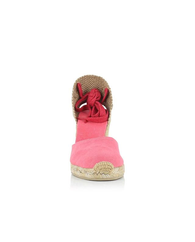 Carina bicolour canvas wedge espadrilles CASTANER