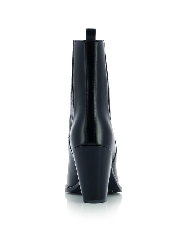Smooth leather western booties with metal covered pointy toe SARTORE