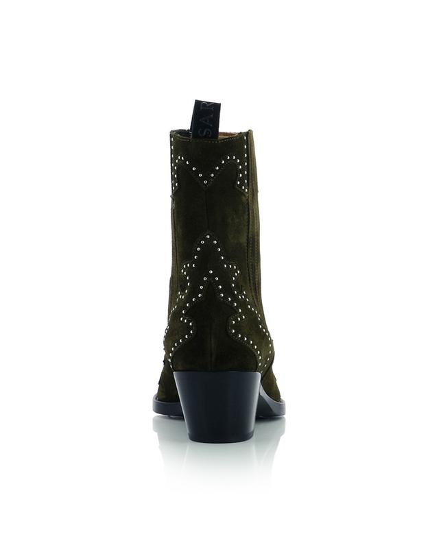 Suede western boots with studded flaming SARTORE
