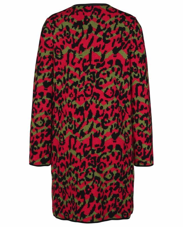 Leopard patterned jacquard knit coat M MISSONI