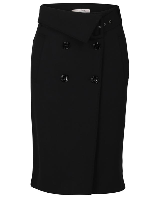 The New Ambition gabardine wrap skirt DOROTHEE SCHUMACHER