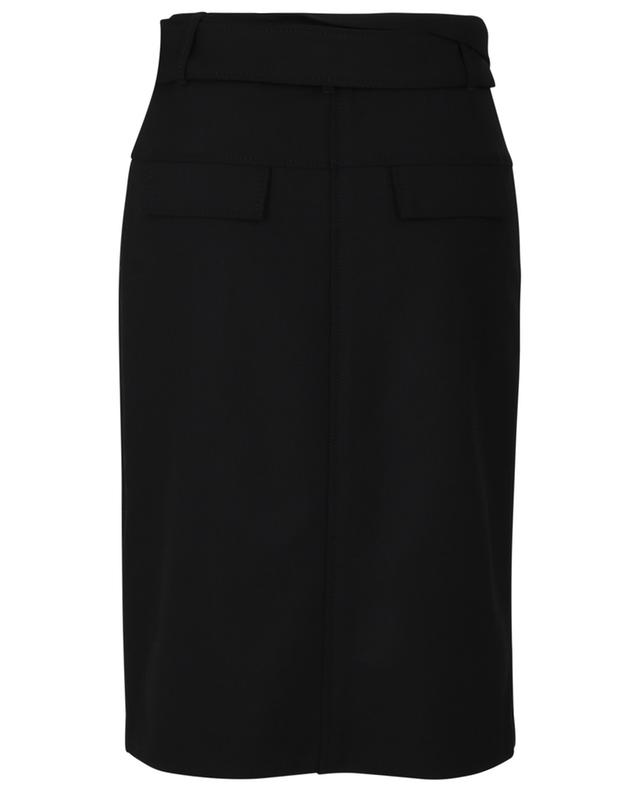 The New Ambition gabardine wrap skirt DOROTHEE SCHUMACHER