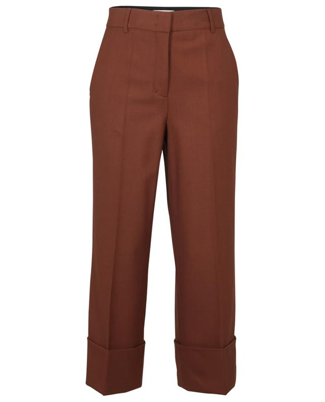 THE NEW AMBITION cropped wool-blend dress trousers with pleats DOROTHEE SCHUMACHER