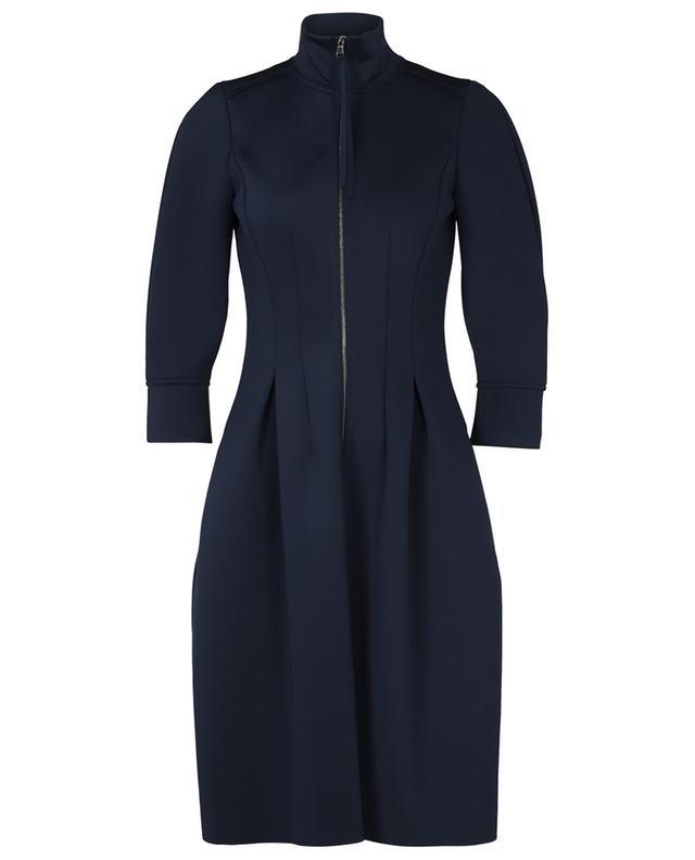 SCUBA GLAM long-sleeve stand up collar dress DOROTHEE SCHUMACHER