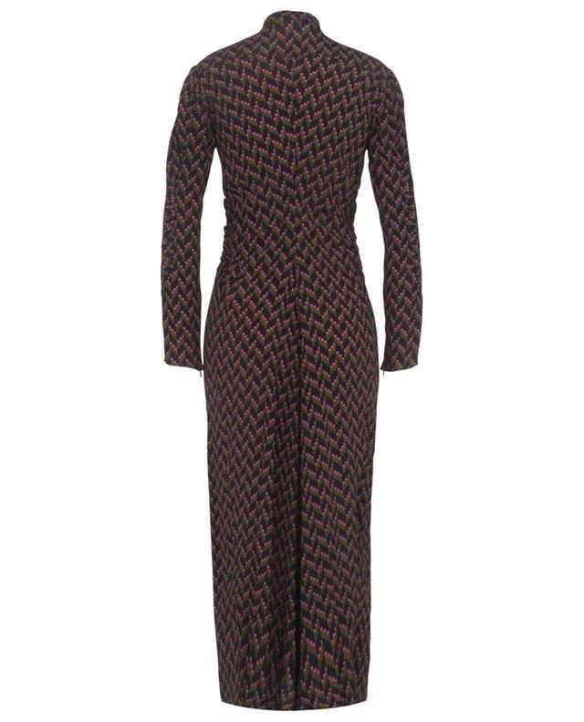 Robe chemise en viscose et soie imprimées Graphic Power DOROTHEE SCHUMACHER