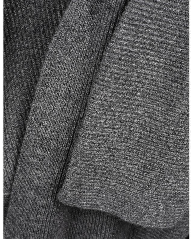 Cardigan ouvert texturé à col châle en cachemire BONGENIE GRIEDER