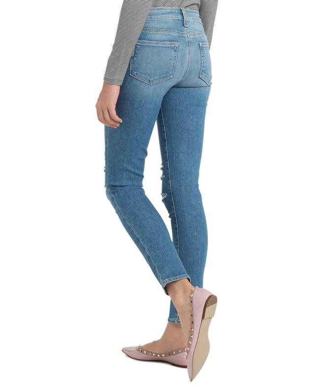 Skinny-Fit Used-Look Jeans PAIGE
