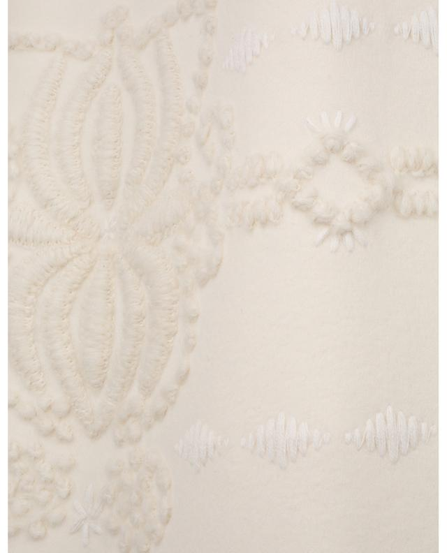 Virgin wool A-line skirt with embroideries ERMANNO SCERVINO