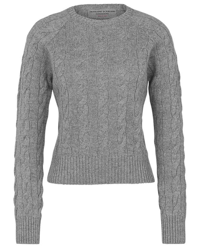 Fitted cashmere and mohair cable knit jumper ERMANNO SCERVINO