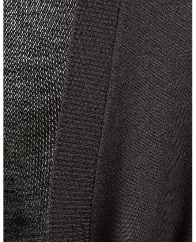 Virgin wool belted cardigan DOLCE & GABBANA