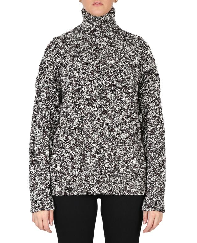 Short and loose cable knit wool jumper with turtleneck DOLCE & GABBANA