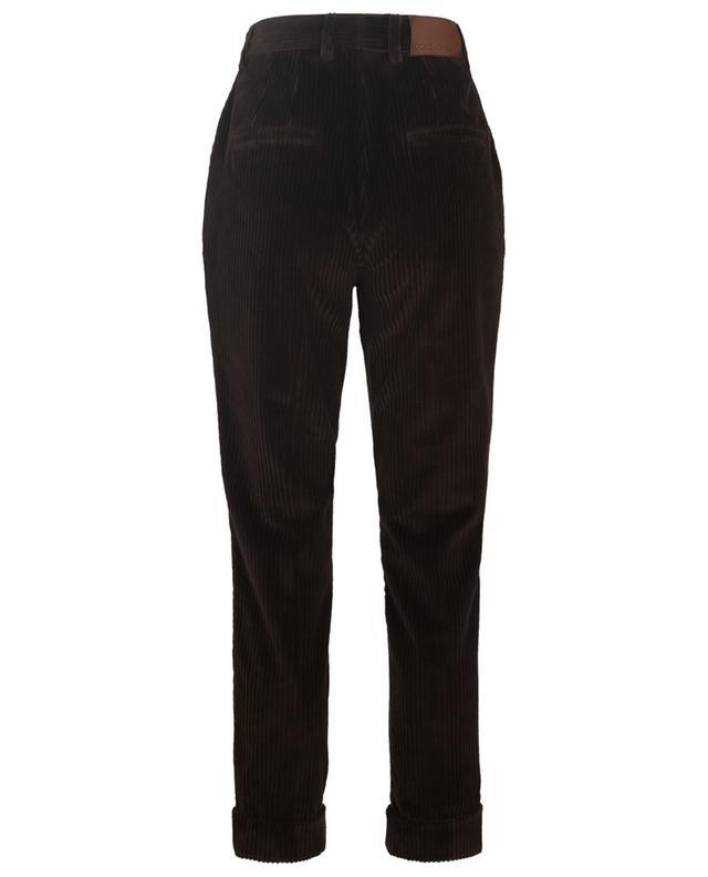 Cropped corduroy cotton-blend trousers DOLCE & GABBANA