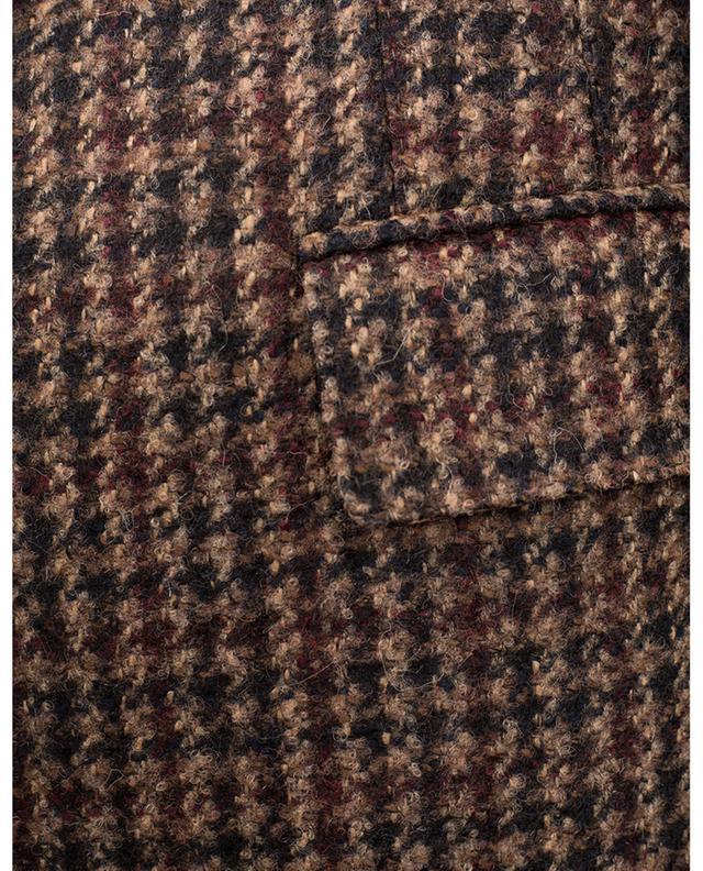 Blazer en laine et alpaga à motifs pied-de-poule DOLCE & GABBANA