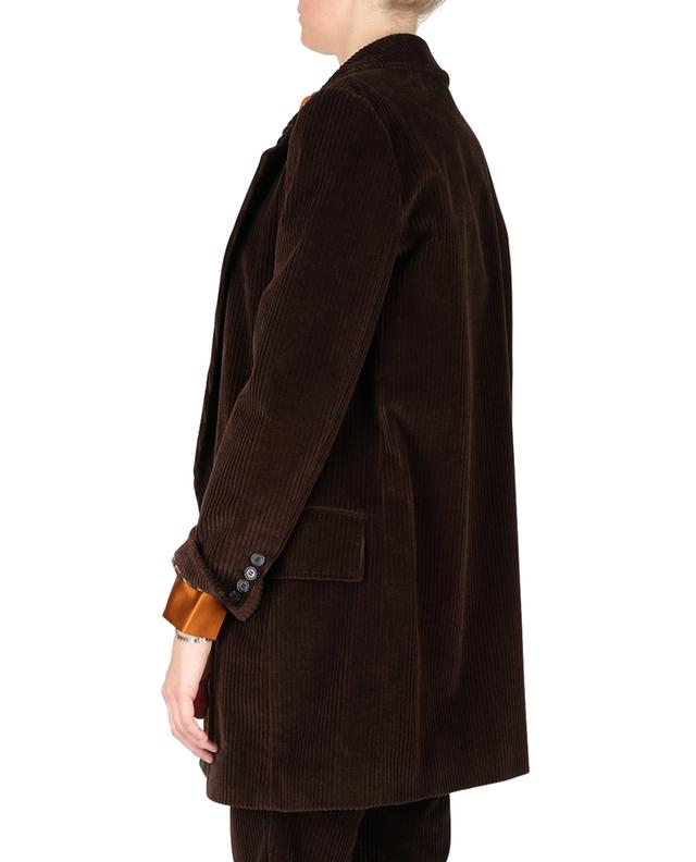 Double-breasted corduroy coat DOLCE & GABBANA