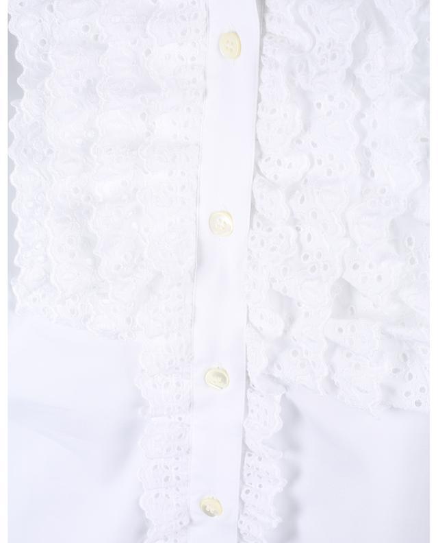 Chemise à volants en coton DOLCE & GABBANA