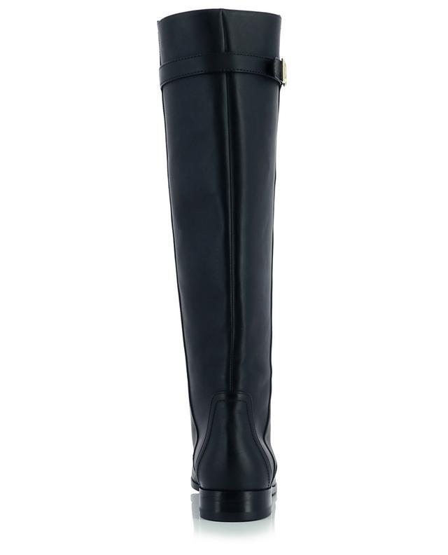 Flache Stiefel aus Leder mit Monogramm Caroline Napoli 20 DOLCE & GABBANA