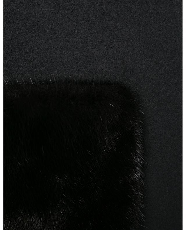 Manteau en laine et cachemire orné de fourrure de vison YVES SALOMON
