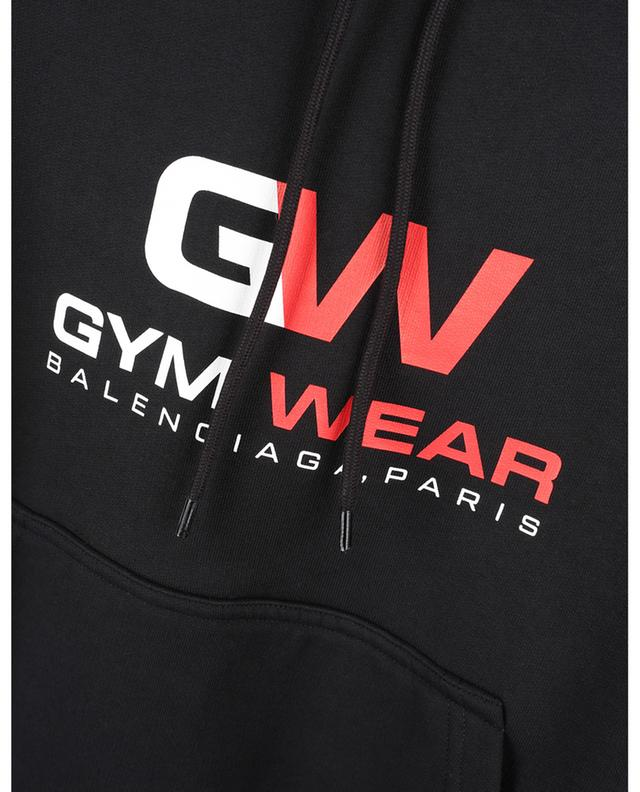 Sweat-shirt à capuche court imprimé GW Small Fit Hoodie BALENCIAGA