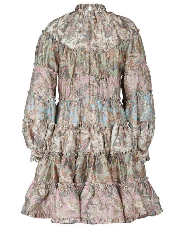 Robe courte en laine et soie imprimé Paisley Ladybeetle ZIMMERMANN