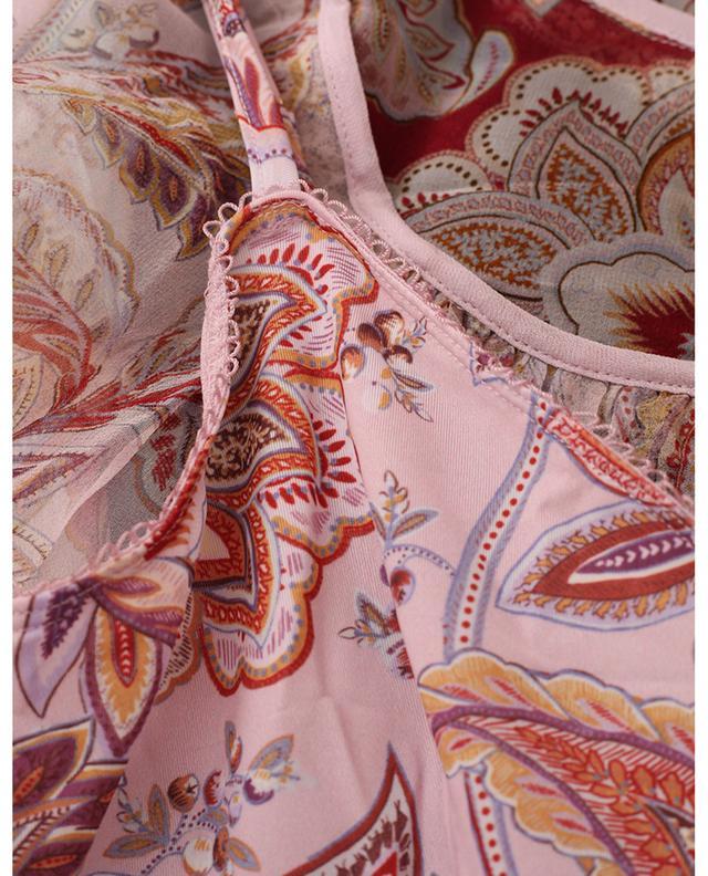 Blouse en soie et dentelle imprimé Paisley Ladybeetle ZIMMERMANN