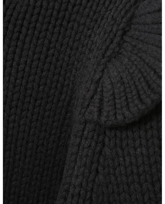 Pull col rond en laine mérinos tricot à volants Ladybeetle ZIMMERMANN