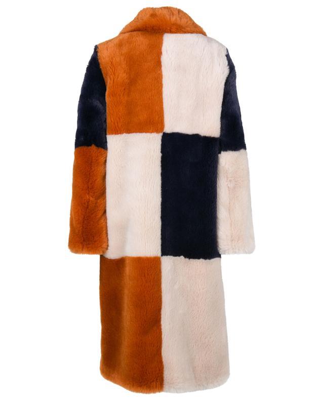 Manteau en fourrure synthétique tricolore Adalyn STELLA MCCARTNEY